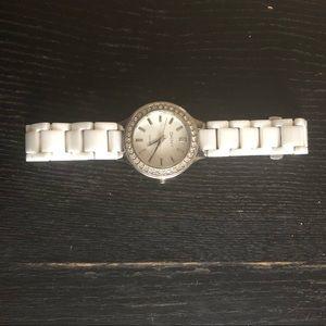 Women's DKNY White Ceramic Watch